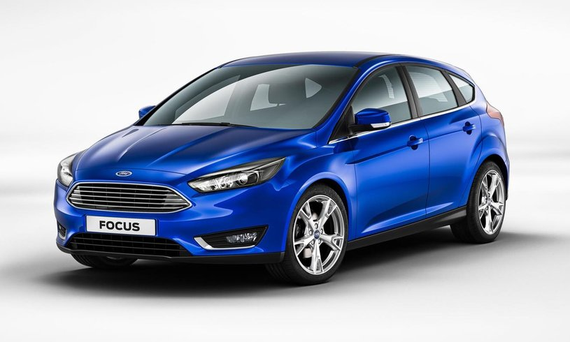 Brand new Ford Focus in blue