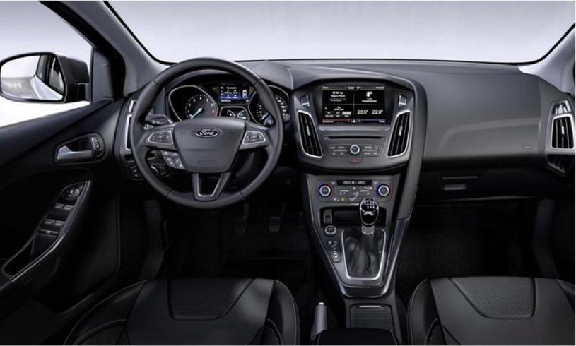 The inside of a brand new Ford Focus